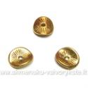 Intarpas riesto diskelio formos aukso spalvos 9 mm