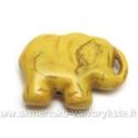 Dirbtinio turkio pakabukas-drambliukas geltonas