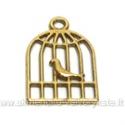 """Aukso spalvos pakabutis """"Narvelis su paukšteliu"""""""