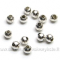 Metaliniai karoliukai sidabro spalvos 3 mm 100 vnt.