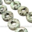 Kivi akmuo žalsvas žiedo formos 20 mm