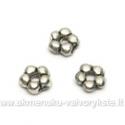 Smulkūs tibeto sidabro intarpai penkialapės gėlytės formos 5 mm