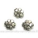Tibeto sidabro intarpai šešialapės gėlytės formos 7,5 mm
