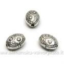 Tibeto sidabro intarpai ovalo formos 8 mm