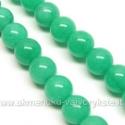 Žadeitas žalios pastelinės spalvos apskritas 8 mm