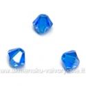 Čekiškas stiklas mėlynas dvipusio konuso formos 4 mm