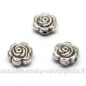 Tibeto sidabro intarpai gėlytės formos 7 mm