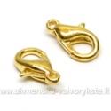 """Užsegimai """"žnyplės"""" aukso spalvos 12 mm"""