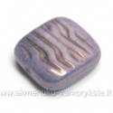 Stačiakampis stiklas šviesiai violetinis 16x15 mm