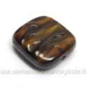 Stačiakampis stiklas tamsios karamelės spalvos 16x15 mm