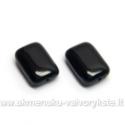 Stiklas juodas stačiakampės pagalvėlės formos 12x8 mm