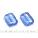 Stiklas melsvas stačiakampės pagalvėlės formos 12x8 mm