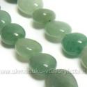 Natūralus žalias avantiūrinas plokščių akmenukų juosta