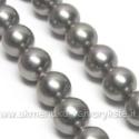 Kriauklės perlai pilkos metalinės spalvos 8 mm