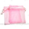 Organza maišelis rožinės spalvos 7x9 cm.