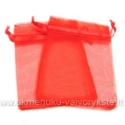 Organza maišelis raudonos spalvos 7x9 cm.
