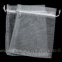 Baltas organza maišelis 12 x 10 cm.
