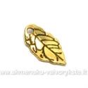 Aukso spalvos pakabukas lapelio formos