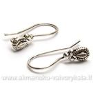 Pasidabruotų auskarų kabliukų pora (sendinto sidabro danga) 21 mm
