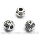 """Tibeto sidabro intarpas """"Statinaitė"""" su taškeliais formos 5 mm"""