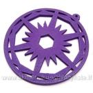 Medinis pakabukas violetinis 6 cm