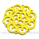 Medinis pakabukas geltonas 4,5 cm