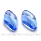 Stiklas susukto ovalo formos melsvas 21x13 mm