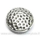 Tibeto sidabro intarpas disko formos 17 mm