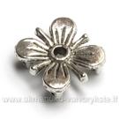 Tibeto sidabro sujungimas gėlytės formos su 4 skylutėmis 12x13 mm