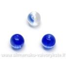 Mėlynas margintas stiklas rutuliuko formos 6 mm