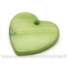 Kriauklės pakabukas žalsvas širdelės formos 17x17mm