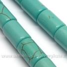 Hovlitas turkio spalvos cilindro formos 11x7 mm