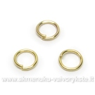 Žiedeliai aukso spalvos 6 mm - 10 vnt.