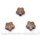 Gėlytės formos intarpas vario spalvos 6 mm