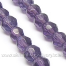 Stiklas violetinis facetuotas 6 mm