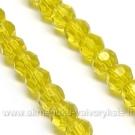 Geltono facetuoto stiklo juosta 32 cm