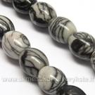 Zebra akmuo ovalo formos 10x9 mm