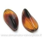 Rudas margas stiklas tribriaunio lapelio formos 24 mm