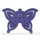 Medinis pakabukas - peteliškė violetinis 4,4x6 cm