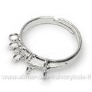 Žiedo pagrindas sidabro spalvos 17mm su 8 kilputėmis