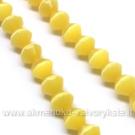 Katės akis geltona dvipusio konuso formos 6 mm