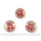 Lampwork karoliukai raudoni 12x8 mm