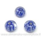 Lampwork karoliukai mėlyni 12x8 mm