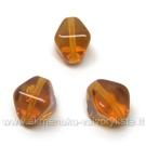 Stiklas rudas keturbriaunio rombo formos 9 mm