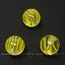 Stiklas geltonomis juostelėmis rutuliuko formos 10 mm