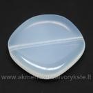 Stiklas opalito spalvos netaisyklingo disko formos 20 mm