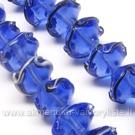 Lampwork gėlytė mėlynos spalvos 14 mm