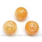 Pūstas stiklas oranžinis 12 mm