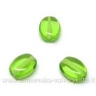 Žalio stiklo ovalo formos karoliukai 8x6 mm