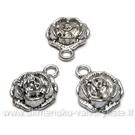 """Tibeto sidabro pakabutis """"Rožės žiedas"""" 13 mm."""